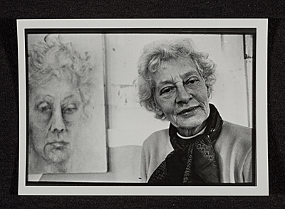 [Maud Morgan with self portrait]