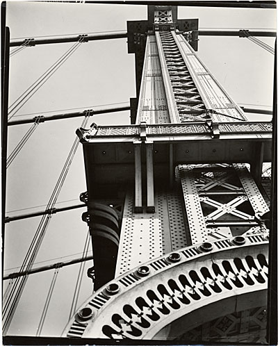 [Manhattan Bridge looking up]