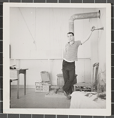 Dudley Huppler in his studio