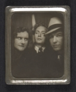 Gertrude Abercrombie, James Purdy, and an unidentified man