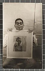 Dizzy Gillespie with painting