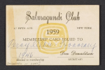 [Percy Albee's Salmagundi Club membership card ]
