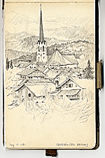 [Grace Albee sketchbook of travel in Germany and France sketchbook page ]