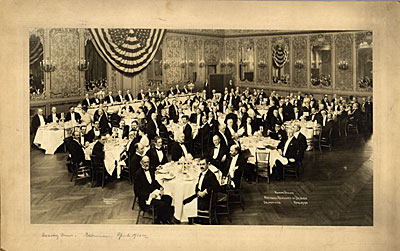 [National Academy of Design annual dinner at Delmonico's Restaurant]