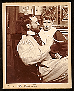 John White Alexander and his son, James, taken in his Paris studio on the Boulevard Bertier