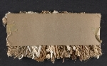 [Fiber samples in natural, mauve, and gold verso 1]
