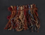 [Fiber samples in red, orange, and blue verso 1]