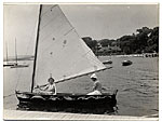 James E. Allen in a sailboat