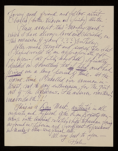 Hale Aspacio Woodruff letter to Charles Henry Alston