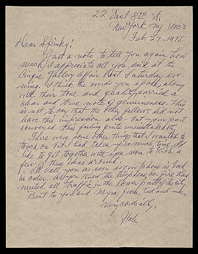 Hale Aspacio Woodruff, New York, N.Y. letter to Charles Henry Alston