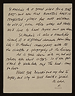 [Romare Bearden, New York, N.Y. letter to Charles Henry Alston 1]