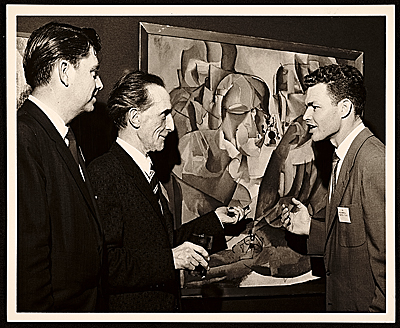 [Lowell Collins, Marcel Duchamp, and Paul Maxwell at the American Federation of Arts 48th Annual Convention]