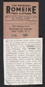 Review of Trends in contemporary painting from India exhibit from the journal Pictures on exhibition