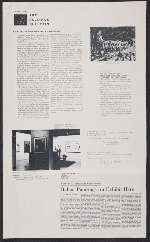 A photocopied sheet of collected press relating to the Painting in Post-War Italy: 1945-1957 exhibition