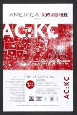 America: Now and Here poster for AC:KC, its Kansas City exhibition at Cocoon Gallery