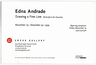 Edna Andrade: Drawing a Fine Line, Works from the Seventies
