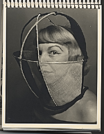 Edna Andrade with sculptural mask