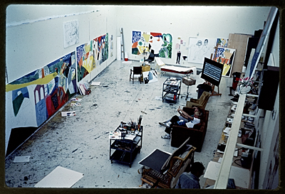 [David Hockney's studio]