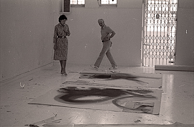 [Helen Frankenthaler and Anthony Caro]