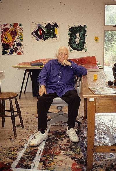 [Sam Francis in his studio]
