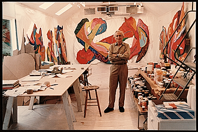 [Alexander Liberman in his studio]