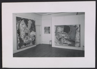 [Installation view of Helen Frankenthaler's fifth show at the Tibor de Nagy Gallery]
