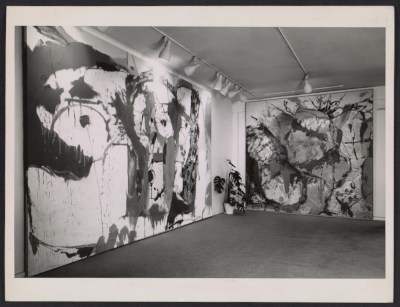 Installation view of Helen Frankenthalers first show at the André Emmerich Gallery