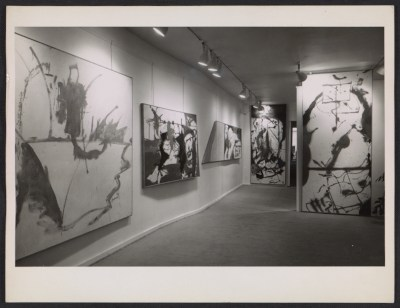 [Installation view of Helen Frankenthaler's first show at the André Emmerich Gallery]