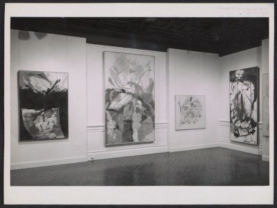 [Installation view of Helen Frankenthaler's show at the Jewish Museum]
