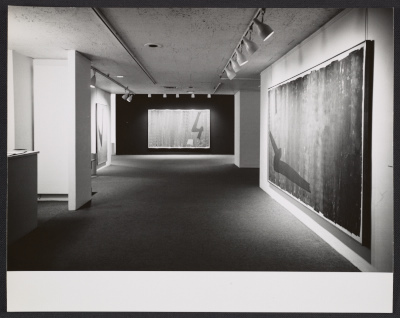 Installation view of the Jack Bush exhibition at the Andre Emmerich Gallery