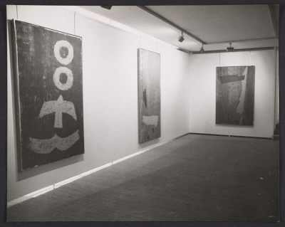 [Installation view of the Jack Bush exhibition at the Andre Emmerich Gallery in Zurich]