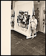 [Helen Frankenthaler with one of her paintings ]