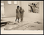 [Helen Frankenthaler and Anthony Caro in Frankenthaler's studio ]