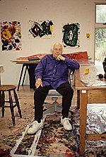 [Sam Francis in his studio ]