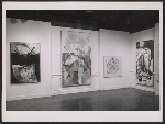 [Installation view of Helen Frankenthaler's show at the Jewish Museum ]