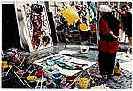Sam Francis in his studio