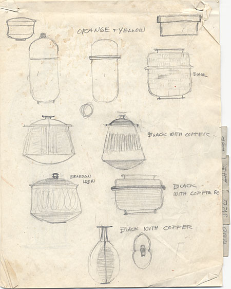 [Sketches of Pots]