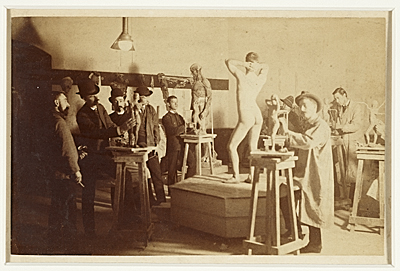 Sculpture class at the Pennsylvania Academy of the Fine Arts