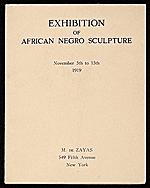 [Exhibition of African Negro Sculpture 1]