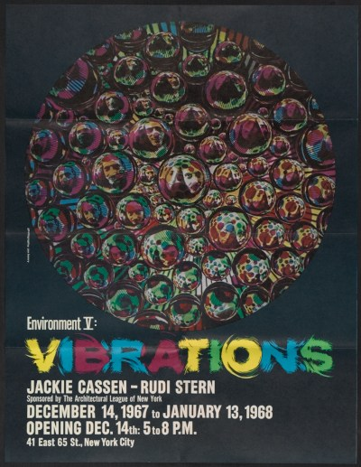 Environment V: Vibrations exhibition poster