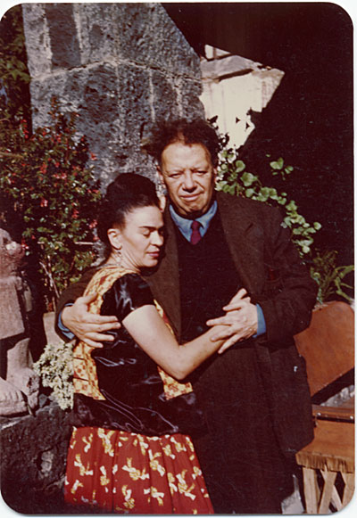 Frida Kahlo and Diego Rivera in Coyoacán, Mexico