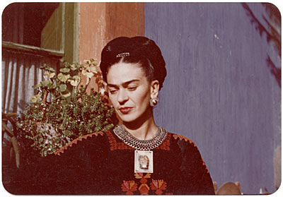 [Frida Kahlo upper body portrait]