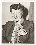 Florence Arquin in polka dot scarf in Mexico