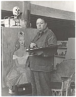 [Diego Rivera at work in his studio 1]