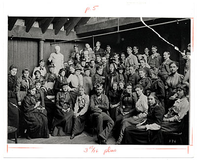 Art Students League Class ca. 1885