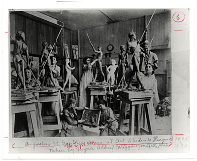 [Augustus Saint-Gauden's Class at Art Students League 1892 or 1893]