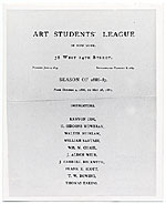 Art Students League Plaque