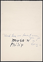 [Philip Guston Christmas card to Elise Asher 1]