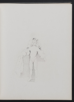 [Sketchbook of variations on the painting Infanta Margaret Teresa in a pink dress page 8]