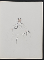 [Sketchbook of variations on the painting Infanta Margaret Teresa in a pink dress page 9]